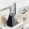 origami folding paper metal volcano vase aroma candle