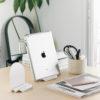 Waterfall luck ipad tablet stand holder mobile cell phone iphone angle adjust flexible metal black white Gift Home gadget office ที่วาง ไอแพด มือถือ น้ำตก เหล็ก ขาว ดำ โชคดี ร่ำรวย ทำงาน