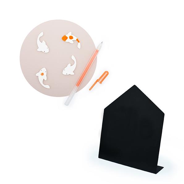 Kohaku carp magnet metal pen stationery luck orange metal sakura brand collaboration Painted removed fish ปลาคาร์ป ปลา โชคดี ความเชื่อ เพ้นท์ ลบ สร้างสรรค์ แม่เหล็ก เครื่องเขียน